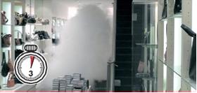 Alarmfachmann Nebelgerät wenige Sekunden nach der Auslösung der Alarmanlage geht die Nebelanlage los