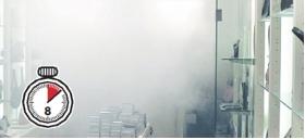 Alarmfachmann Nebelgerät nach 8 Sekunden ist der Raum vernebelt