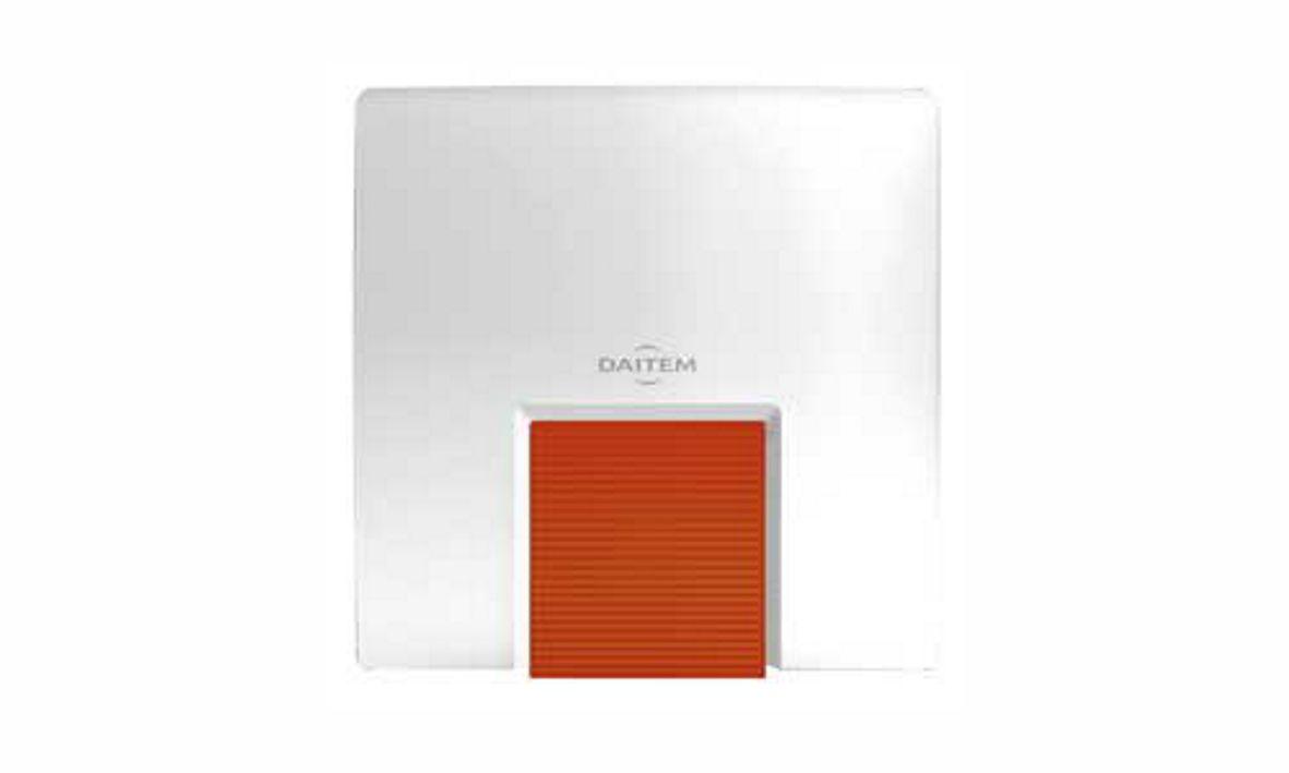 Dies ist die Aussensirene der Daitem D22 Funkalarmanlage, die wir Ihnen als Alarmfachmann empfehlen, wenn Sie Wert auf Qualität und Design legen.