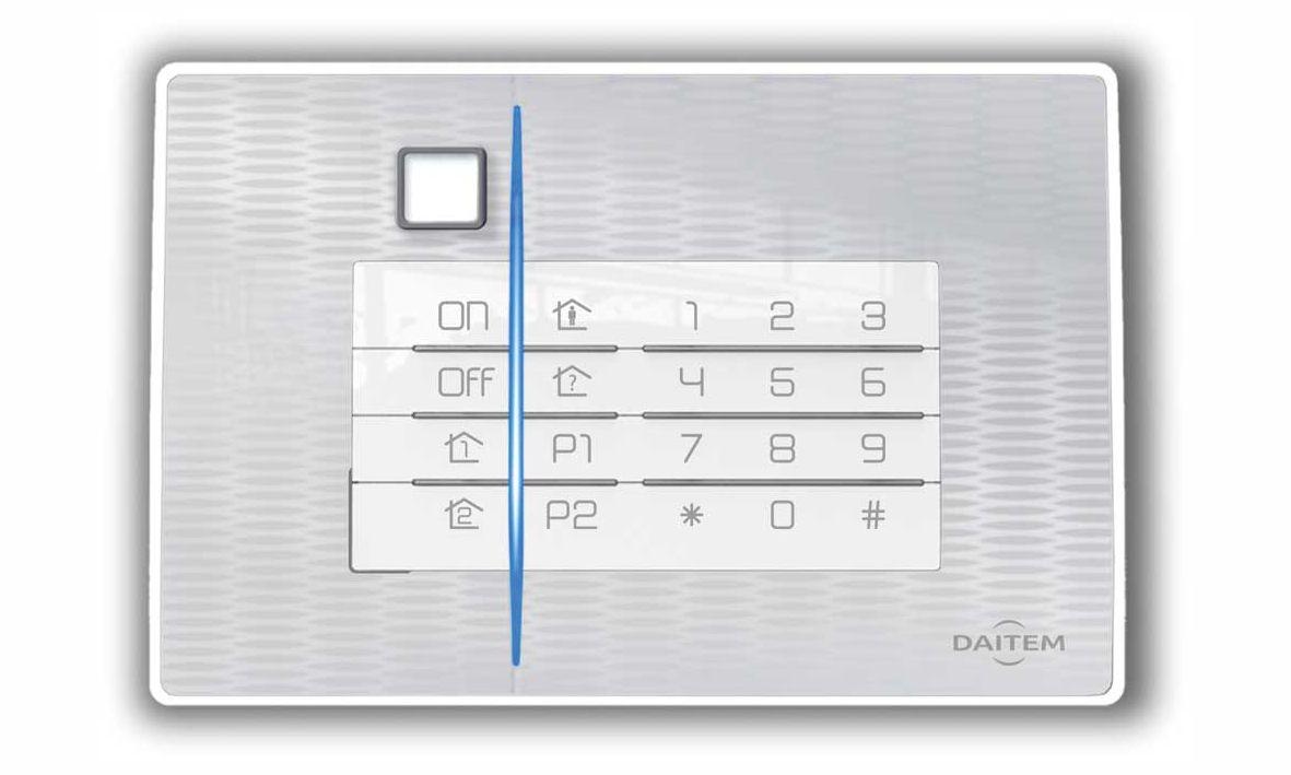 Dies ist eine alternative Abdeckung der Codeeinrichtung der Daitem D22 Funkalarmanlage.