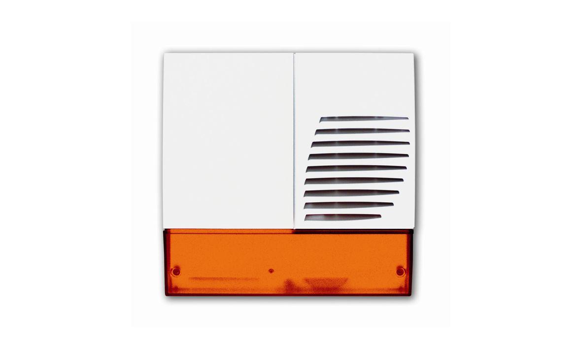 Dies ist die Aussensirene der Daitem D16 Funkalarmanlage, die wir Ihnen als Alarmfachmann empfehlen, wenn Sie mit wenig Aufwand ein sicheres Zuhause schaffen möchten.
