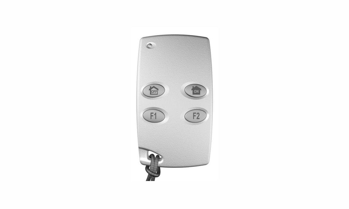 Dies ist die Fernbedienung der Daitem D16 Funkalarmanlage, die wir Ihnen als Alarmfachmann empfehlen, wenn Sie mit wenig Aufwand ein sicheres Zuhause schaffen möchten.