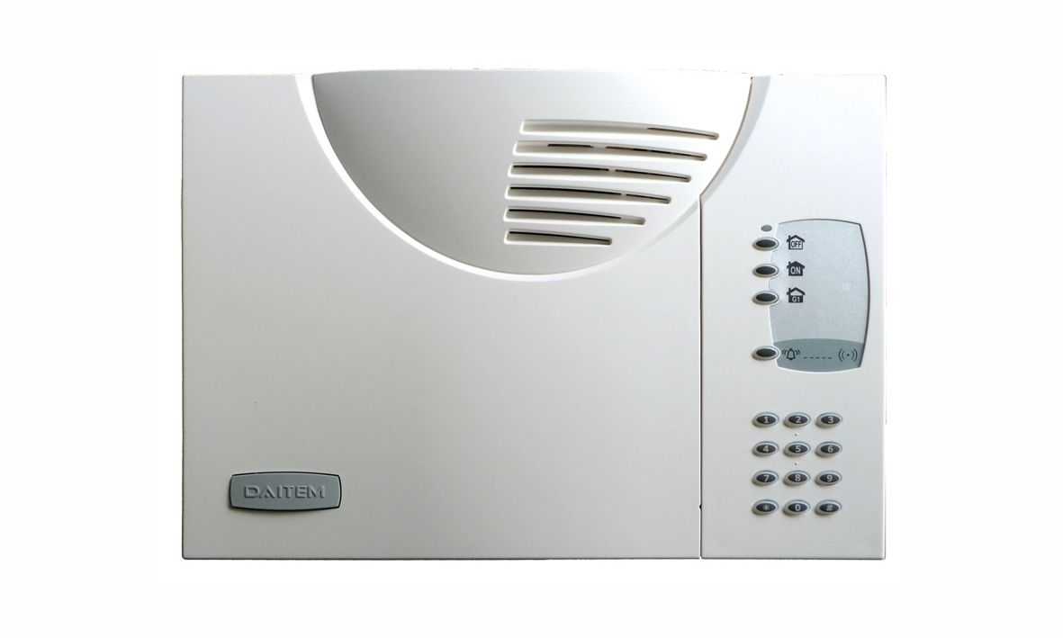 Dies ist die Zentrale der Daitem D16 Funkalarmanlage, die wir Ihnen als Alarmfachmann empfehlen, wenn Sie mit wenig Aufwand ein sicheres Zuhause schaffen möchten.