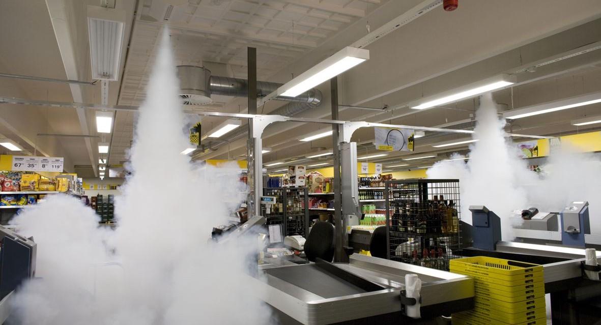 Alarmfachmann Beispiel für Nebenanlage Einkaufsmarkt