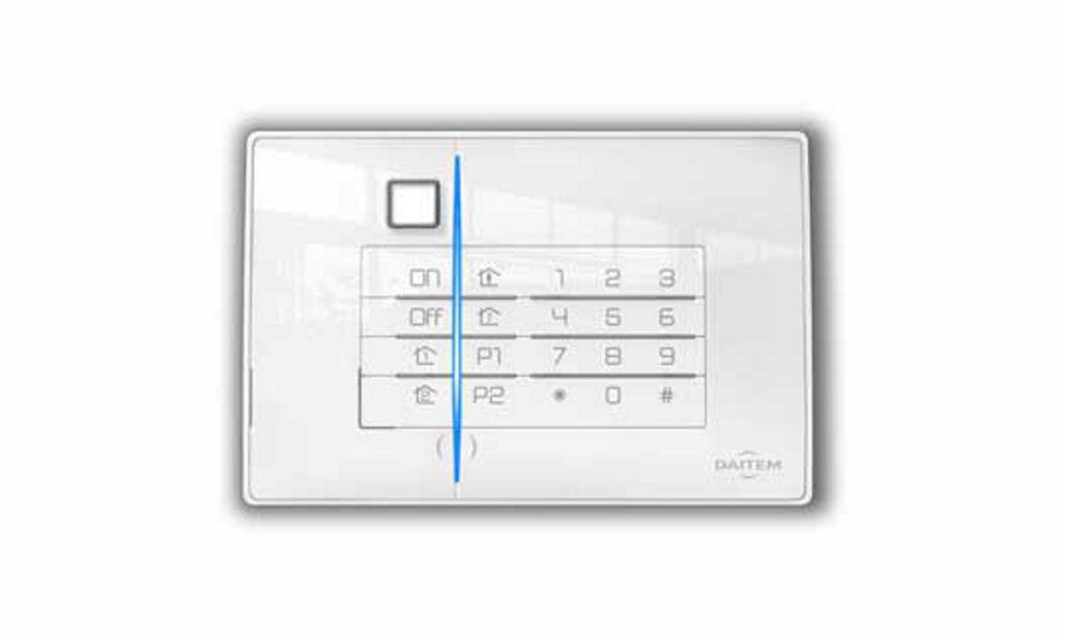 Dies ist die Codeeinrichtung der Daitem D22 Funkalarmanlage, die wir Ihnen als Alarmfachmann empfehlen, wenn Sie Wert auf Qualität und Design legen.