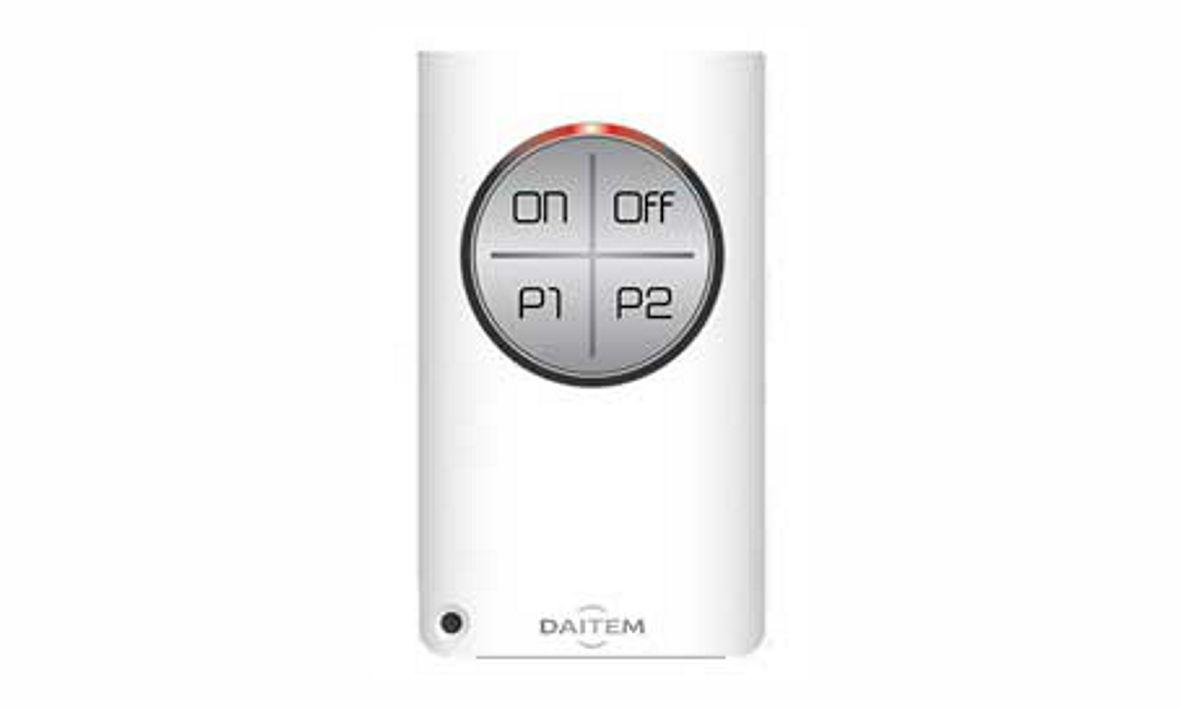 Dies ist eine Fernbedienung  der Daitem D22 Funkalarmanlage, die wir Ihnen als Alarmfachmann empfehlen, wenn Sie Wert auf Qualität und Design legen.