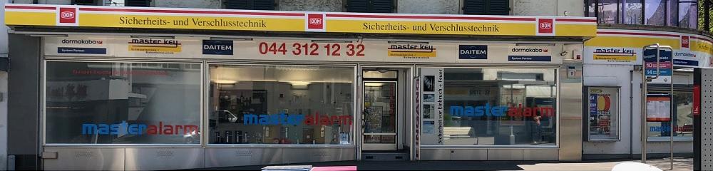 Hier sehen Sie ein Foto vom Showroom des Alarmfachmanns - Firma Master Alarm in Zürich Oerlikon, Berninaplatz 1, 8057 Zürich